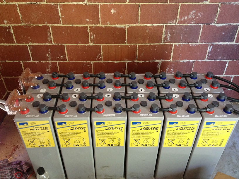 Battery Bank for Stand Alone System, Lake Clifton